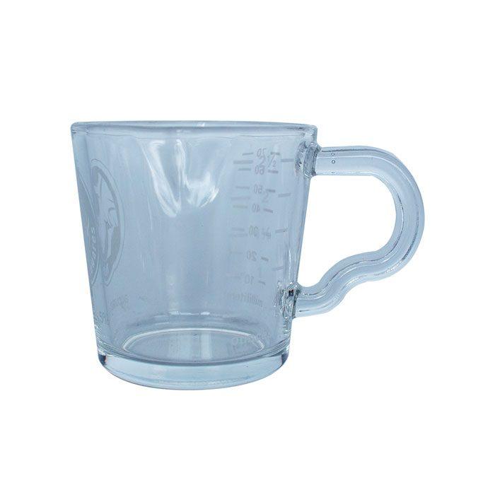Double spouted glass shot jar